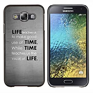 Cubierta protectora del caso de Shell Plástico || Samsung Galaxy E5 E500 || Profundo mensaje valor de la vida @XPTECH