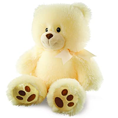 """Cuddle Barn Cuddles the Cub Teddy Bear, Musical Stuffed Animal Plush Toy for Babies Glows and Plays 5 min Melody of """"Brahm's Lullaby"""" to Soothe Babies to Sleep, 14"""": Toys & Games"""