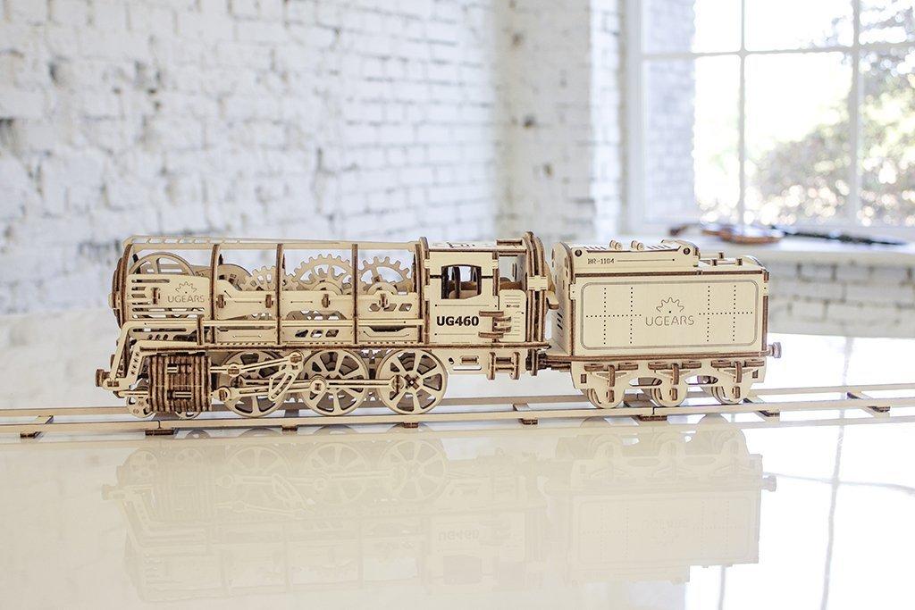 【国内即発送】 Steam Locomotive with tender - Locomotive Mechanical Model B074TFQH1Q Construction Kit Steam by UGears by UGears [並行輸入品] B074TFQH1Q, kikaihanbai:efb2997c --- a0267596.xsph.ru