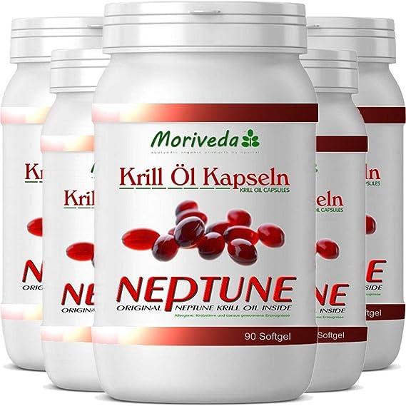 El aceite de krill 450 cápsulas con prima de Aceite de Krill Neptune. Omega 3