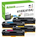 Aztech 410A Compatible for HP M477fnw M452dn 410A 410X Toner Cartridge for HP Laserjet Pro MFP M477fnw M477fdw M477fdn HP LaserJet Pro M452dn M452dw M452nw Toner Ink Printer -Black Cyan Yellow Magenta