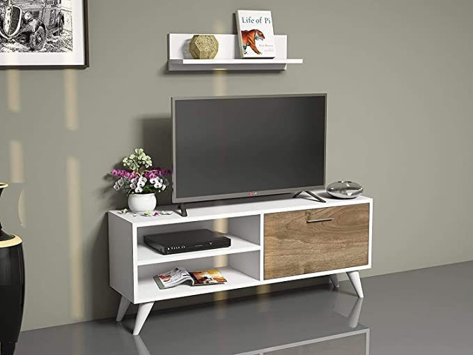 Taube Mobile Porta TV Mobiletti per Soggiorno 100 x 40 x 50 Marrone Tavolo TV ConfortChoice Mobile Basso per TV