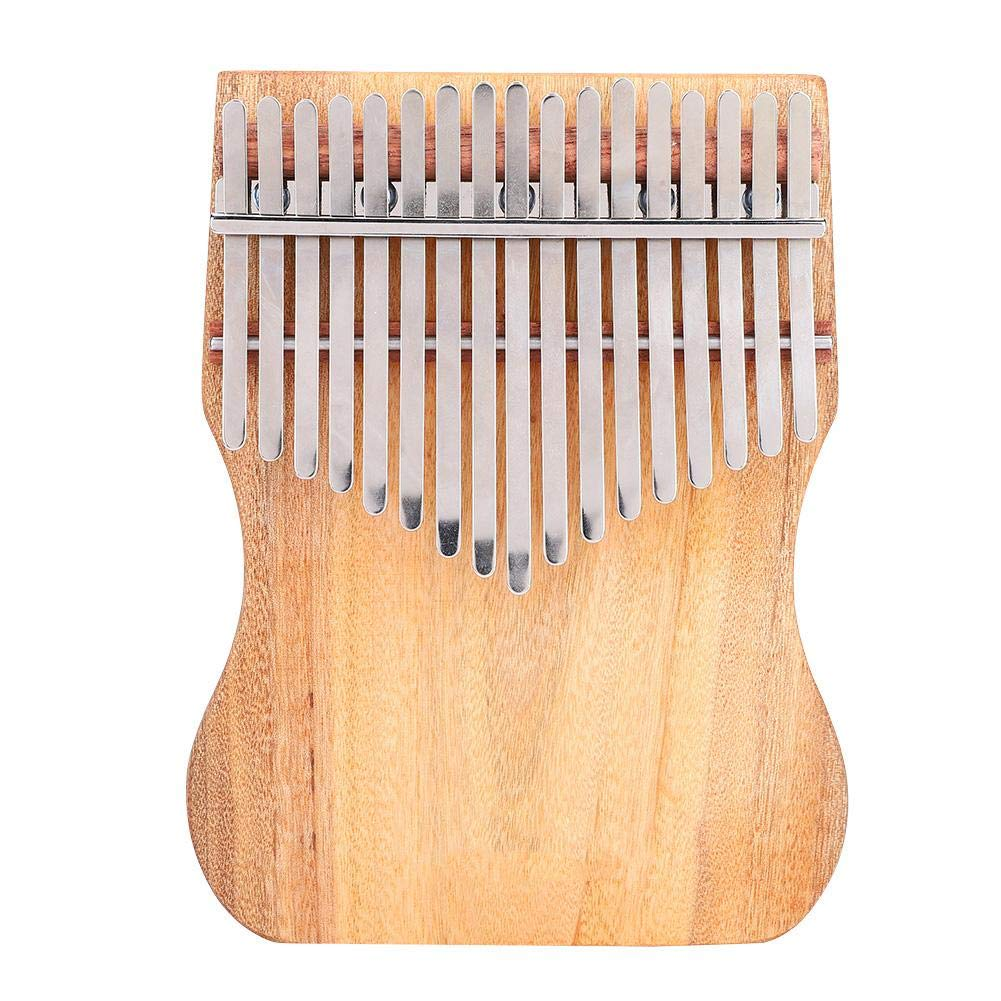Kalimba 17 Keys Thumb Piano, Full Solid Camphor Wood Portable Thumb Piano with Drawstring Cloth Bag K17CAP for Children Friends Music Lovers