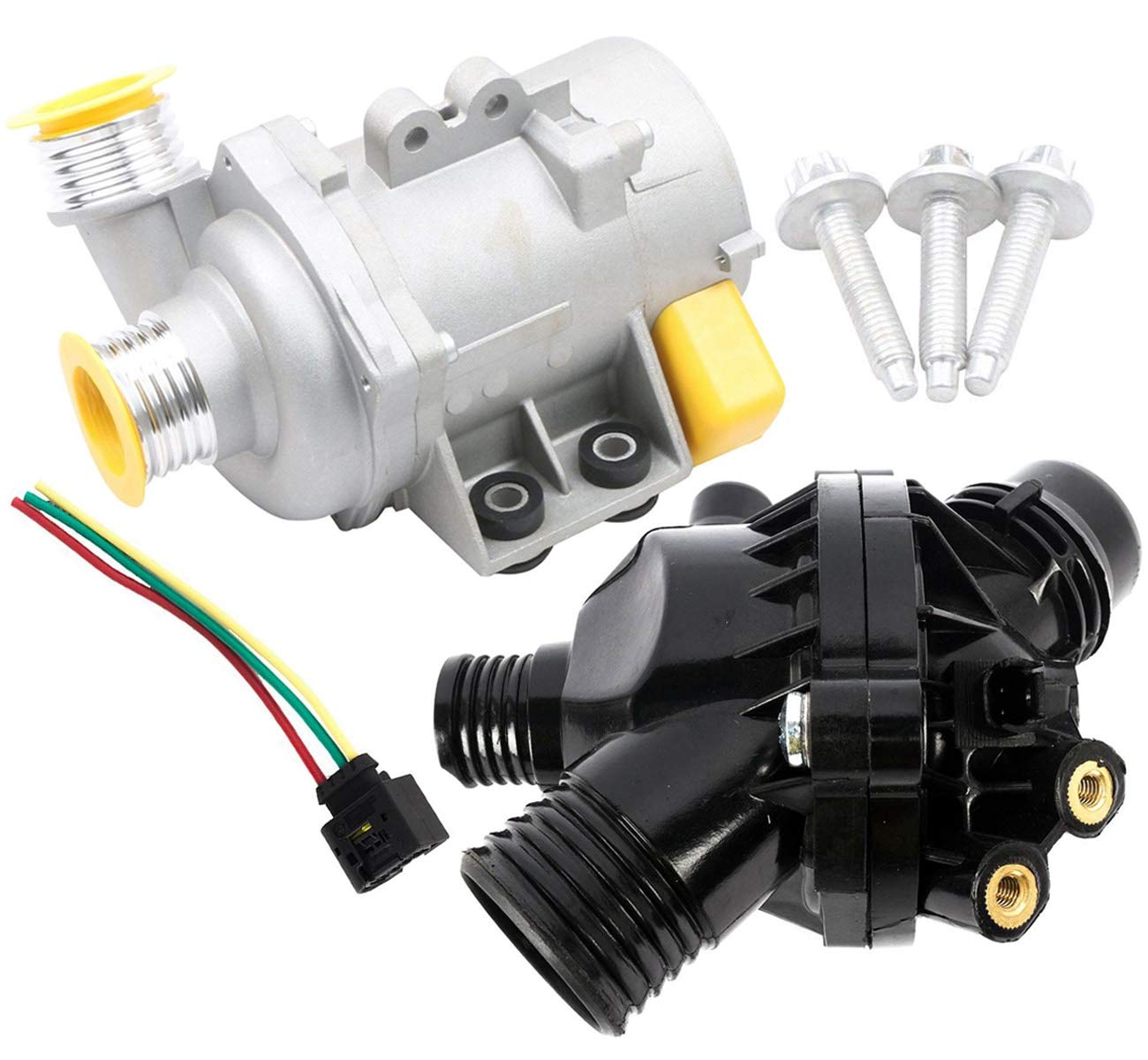 KARPAL Engine Water Pump and Thermostat Wire Harness Bolt 11517586925 Compatible With BMW E90 E91 X3 Z4 328i 530xi 325i by KARPAL