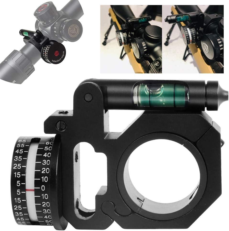 Dr.Taylor Alcance Táctico Monta Calibrador, Mano Derecha Anillo Indicador del ángulo del Grado (Adi/ACI) y Nivel de Burbuja Fit 25,4 mm / 30 mm, para la Vista óptico