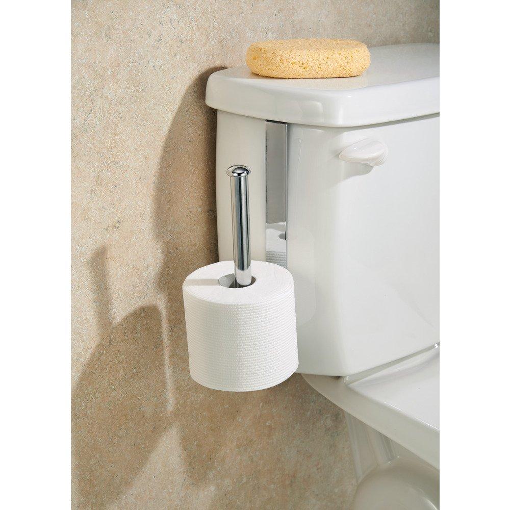 Amazon com  InterDesign Classico Over Tank Vertical Toilet Paper Holder    Extra Bathroom Toilet Roll Storage  Chrome  Home   Kitchen. Amazon com  InterDesign Classico Over Tank Vertical Toilet Paper