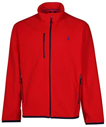 Polo Ralph Lauren Mens Performance Micro Fleece Full Zip Jacket (XS, RL  2000 Red