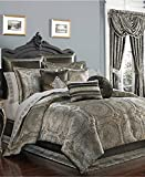 J QUEEN Bridgeport 11 PIECE KING COMFORTER SET -Spa Blue Silver