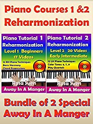 Piano Courses 1 & 2 - Reharmonization Piano Tutorials - Bundle of 2 Special for Beginners & Intermediate: Learn Piano (Piano Lessons) (English Edition)