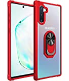 Samsung Galaxy Note 10 Case, [ Military Grade ] 15ft. Drop Tested Protective Case   Kickstand   Compatible with Samsung Galaxy Note 10 / Note 10 5G Case (2019 Release)-Red
