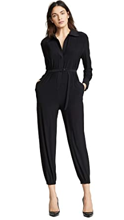 372ae1f8b25b Amazon.com  Norma Kamali Women s Nk Shirt Jog Jumpsuit  Clothing
