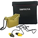 Earplugs High Fidelity Ear Plugs with Aluminum Case - 2-in-1 Noise Canceling Filter Reusable for Musicians Snoring Concerts Travel Sport Drummers Shooters DJ by Topnuna