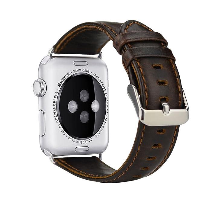 24 opinioni per Per Cinturino Apple Watch 38mm, iBazal Apple Watch Series 3 Cinturino in Pelle
