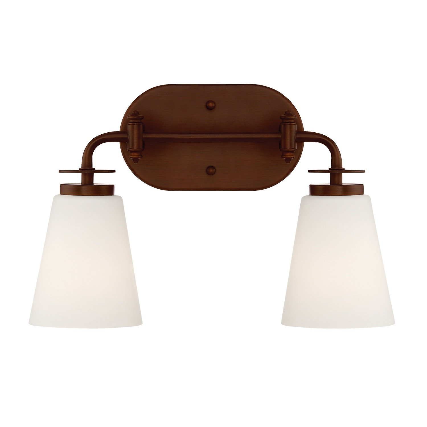 Millennium Lighting 392-RBZ Millennium:Two Light Vanity 2-Light Bath Vanity in Rubbed Bronze