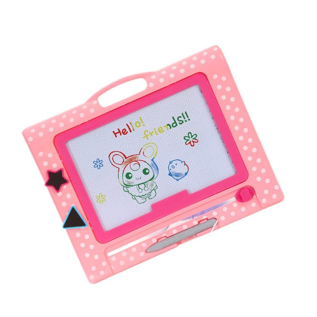Giocattoli di Graffiti magnetici per Lavagna da Scrittura per Bambini da Tavolo Magnetico da Disegno a Colorei Portatile (Colore   rosa, Dimensione   B)