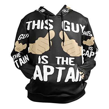 Amazon com: Ding This Guy Captain Whole Printing Mens