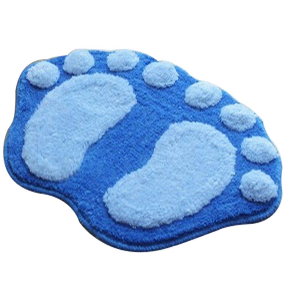 Da.WA lovely foot-shaped antiscivolo peluche antiscivolo tappeto bagno camera da letto zerbino