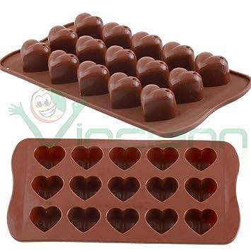 Molde para gelatina, diseño de corazones de chocolate silicona, diseño de caramelos de chocolate: Amazon.es: Electrónica