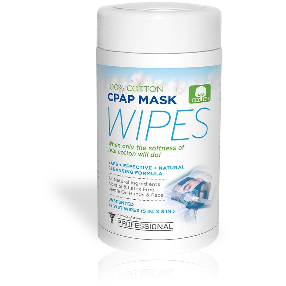 CPAP Wipes by AWOW Professional | 372 CPAP Unscented Cotton Mask Cleaning Wipes, 6 Canisters of 62 Wipes by A World of Wipes Professional (Image #4)