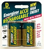 Photo : Energizer Recharge Universal D Rechargeable Batteries, 2-Count (Pack of 2)