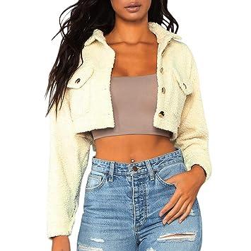 Amazon.com: Abrigos de piel sintética para mujer, chaquetas ...