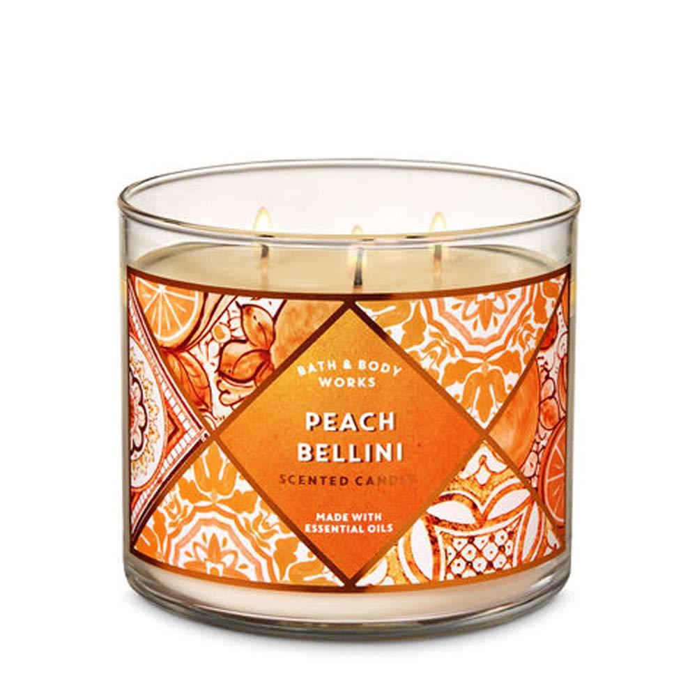Bath & Body Works PEACH BELLINI 3-Wick Candle 14.5 oz / 411 g by Bath & Body Works