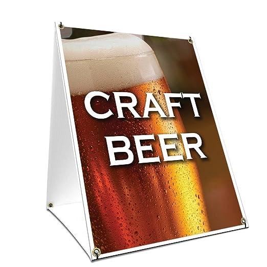 SignMission Cartel de cerveza con imagen en cada lado, 61 x ...