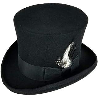 6696feccd17d19 Differenttouch 100% Wool Felt Top Hats Victorian Style Made Hatter 6