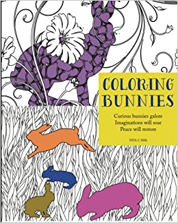 amazoncom coloring bunnies adult coloring book coloring animals volume 1 9780985211059 niya c sisk books - Coloring Book Animals