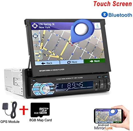 Amazon.com: Hikity Single Din Car Stereo with GPS 7 Inch ...
