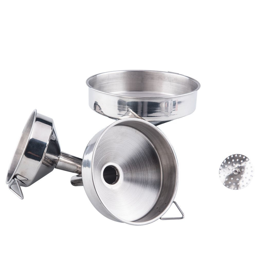 Tebery Nested Store Funnel - 3 Piece Stainless Steel Funnel Set