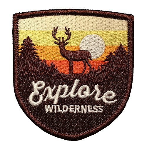 Explore Wilderness/Iron on Patch/Vintage Patch for Jackets, Backpacks, Hats, and Clothing - Iron on Patches