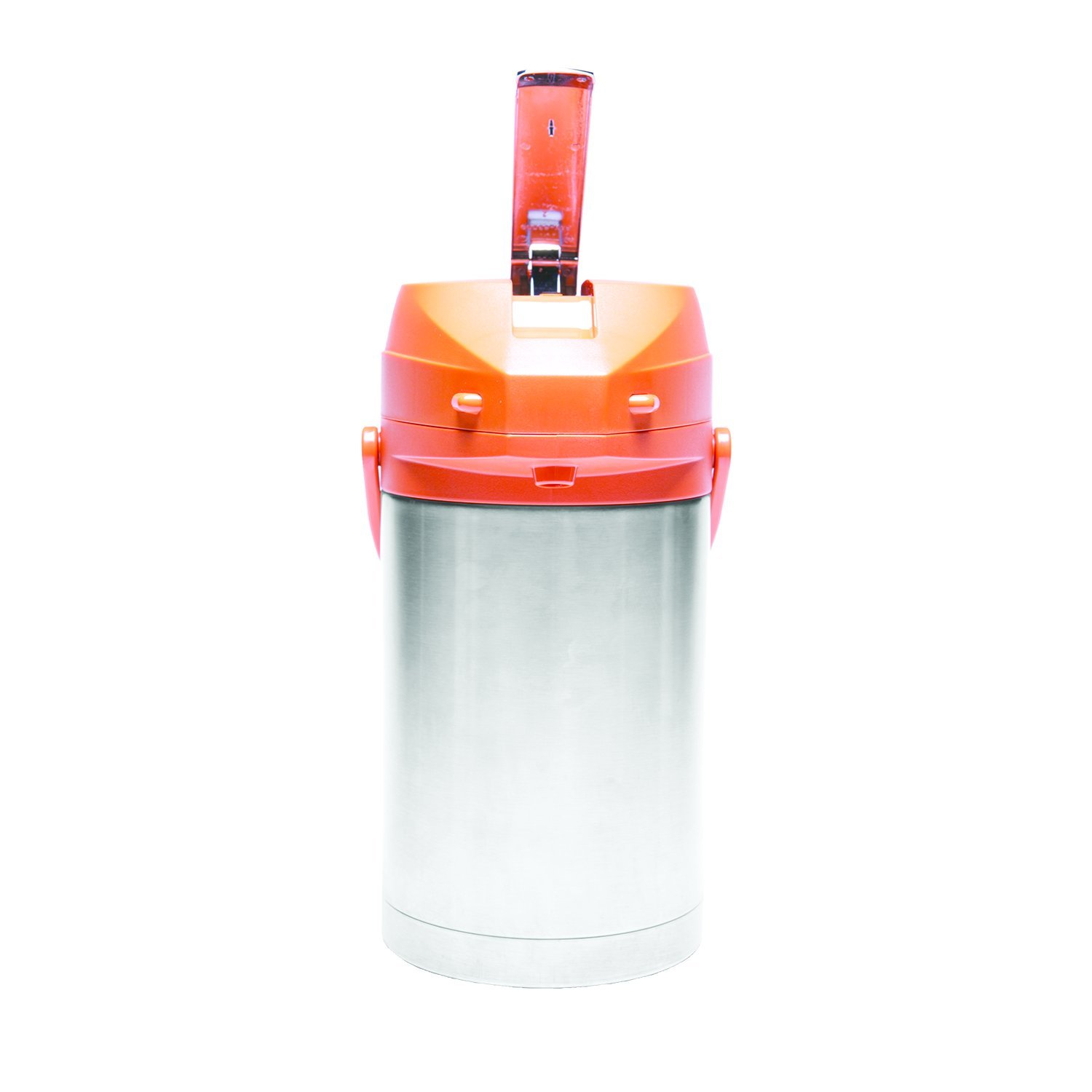 Service Ideas CTAL25OR Airpot with Lever, Stainless Steel Lined, 2.5 L, Orange Top
