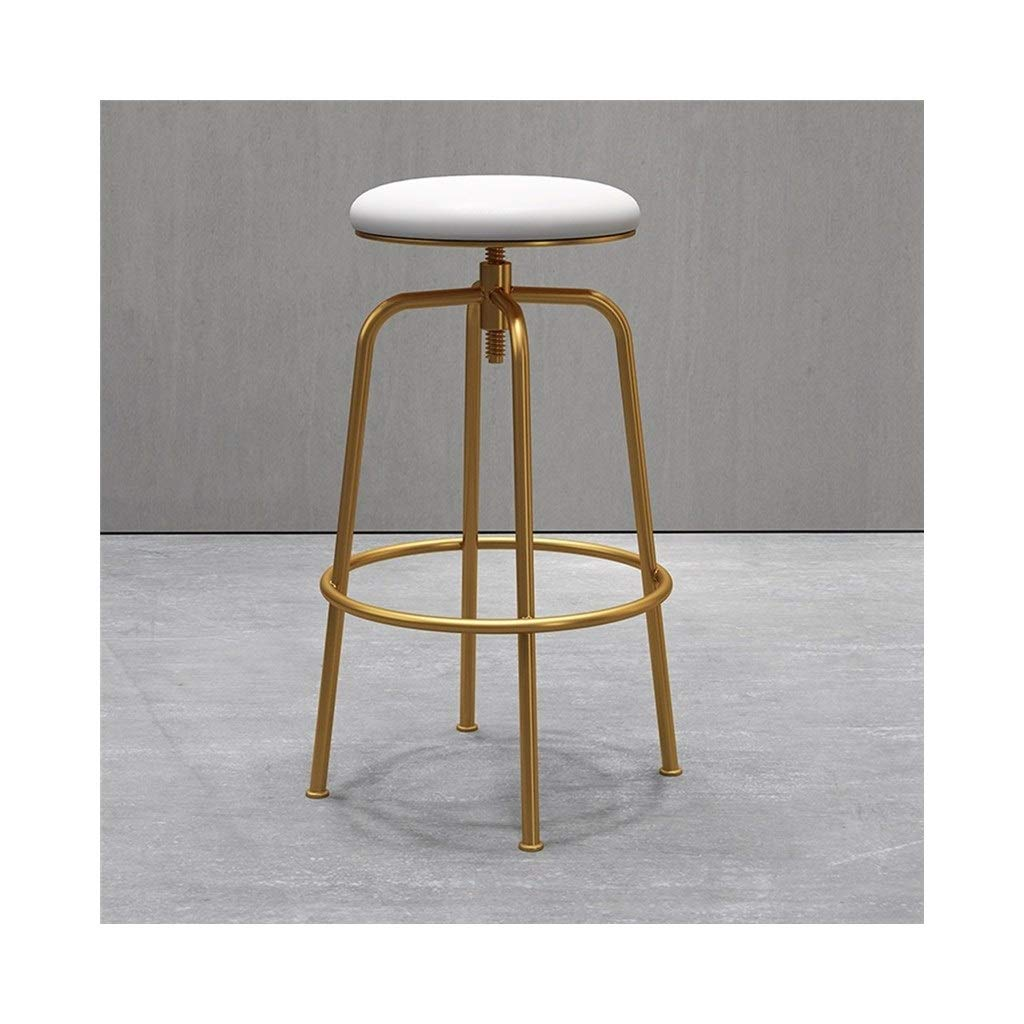 White Bar Chair golden Bar Chair Bar Stool Front Desk Chair Leisure Chair Simple and Modern FENPING (color   Black)