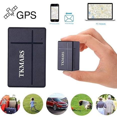 Mini GPS Tracker, TKMARS GSM SIM Tracking Ubicación en tiempo real GPS antirrobo Localizador por