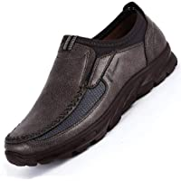 COSIDRAM Men Casual Shoes Slip on Walking Shoes Breathable Comfort Fashion Loafers Luxury Suede Leather Black Brown Khaki Sneakers Driving Shoes for Male Business Work Office Dress Outdoor