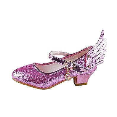 96ab7edbf7813f O N Prinzessin Gelee Partei Absatz-Schuhe Sandalen für Kinder Glanz  Prinzessin mit Flügel Design