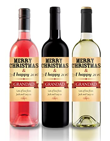 Vintage Christmas Wine Label Personalised Gift idea