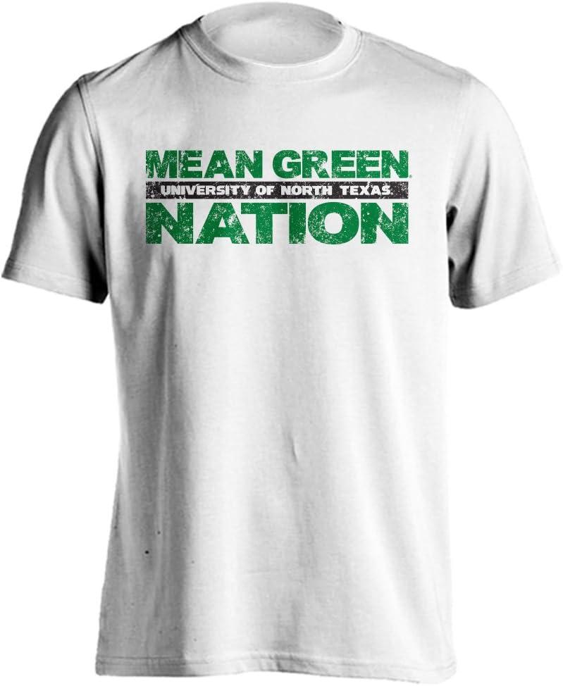 Universidad del Norte de texas significa verde nación manga corta camiseta - 101-UNT-002-W-S, Blanco: Amazon.es: Deportes y aire libre