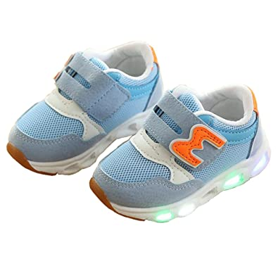 4477f09e9 Daclay Unisex Kids Boys Girls LED Flashing Soft-Soled Light up Sneakers for  Children Shoes