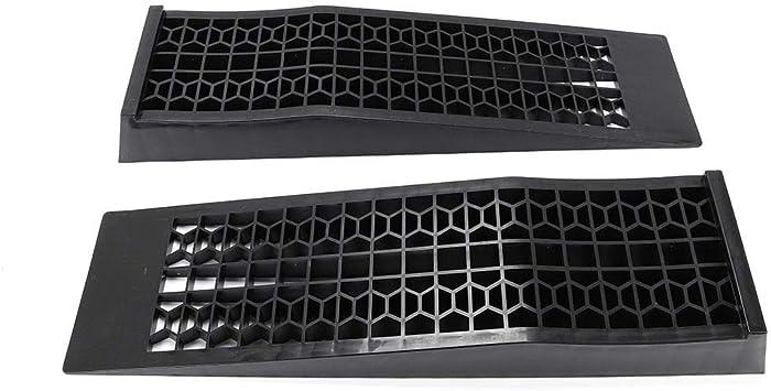 KAHE2016 1 Pair Low Rise Car Ramp Heavy Duty Entry Ramp Capacity 3T Plastic