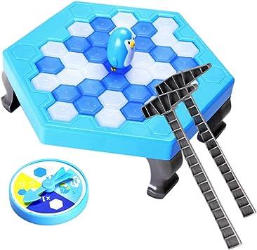 Padres niños juguetes interactivos guardar pingüino rompehielos mesa familia diversión juego entretenimiento juguetes: Amazon.es: Juguetes y juegos