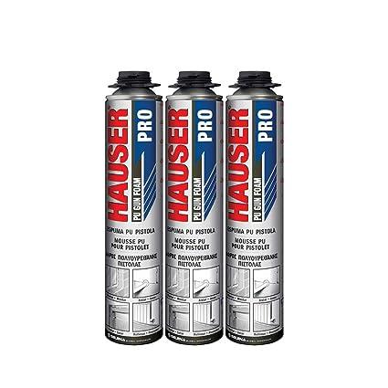 Juego de 3 bombas de espuma expansiva de poliuretano para pistola - 750 ml