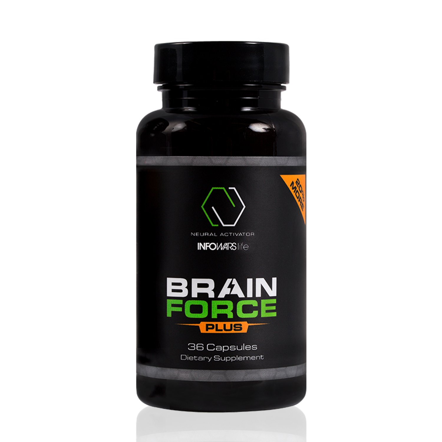 Brain Force Plus Nootropic Supplement (36 Capsules) – Extra Strength Formula to Boost Memory, Focus, Energy & Clarity