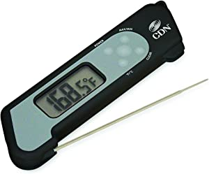 CDN TCT572-BProAccurate Digital Instant Read Folding Thermocouple Cooking Thermometer-NSF Ceritfied Black