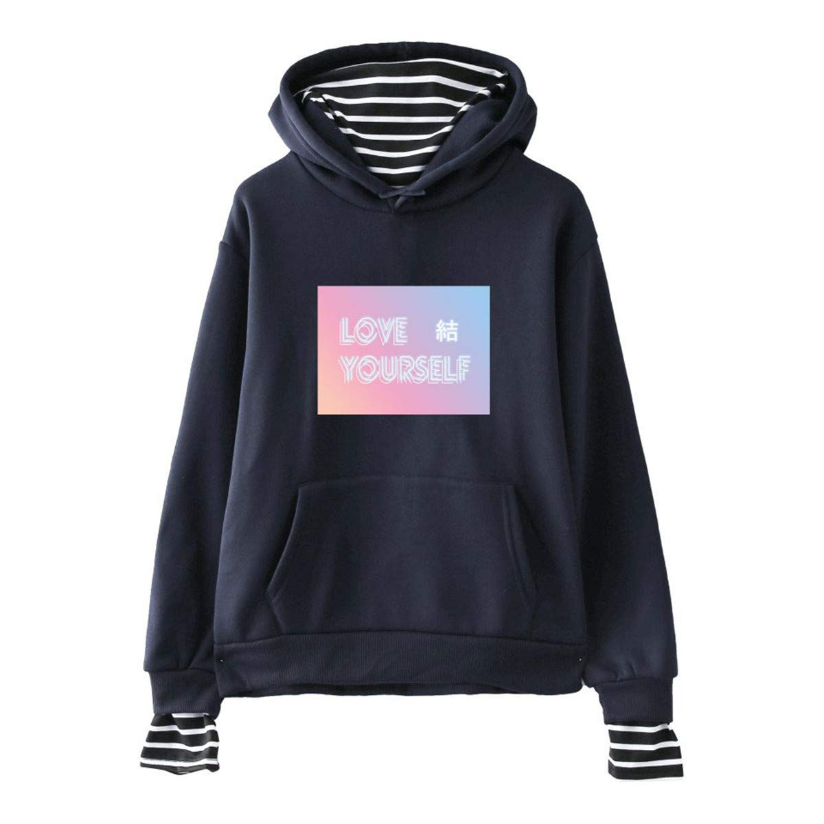 ATIWING BTS Love Yourself Logo Sweater Monster Hoodie Unisex Sweatershirt