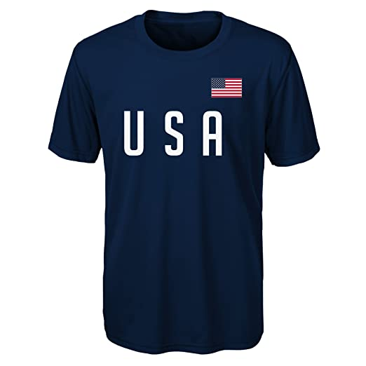 Outerstuff International Soccer Boys Love of Country Performance Short Sleeve Tee