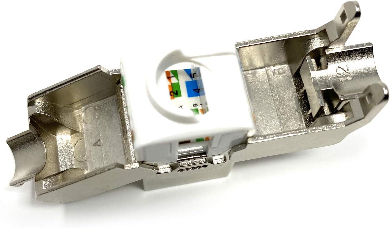 Platinum Connector CAT7 RJ45 Tool-Less FTP Keystone Jack 10pcs CAT7 Keystone FTP