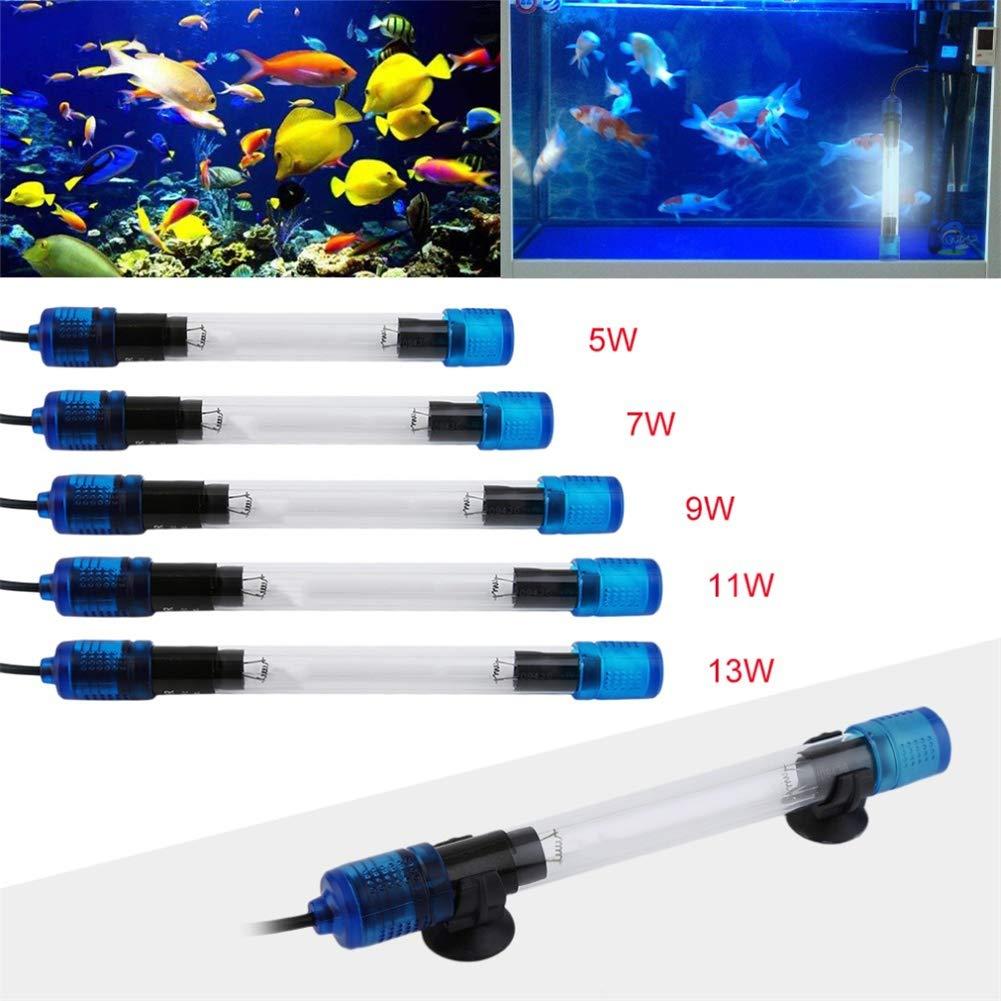 MYSTERILIZER 5 Tipi UV Germicida Leggero per Acquario ultravioletto Sterilizzatore Lampada Sterilizzazione Acqua Disinfezione sommergibile Immersione Pesce corallina battericida Lampada