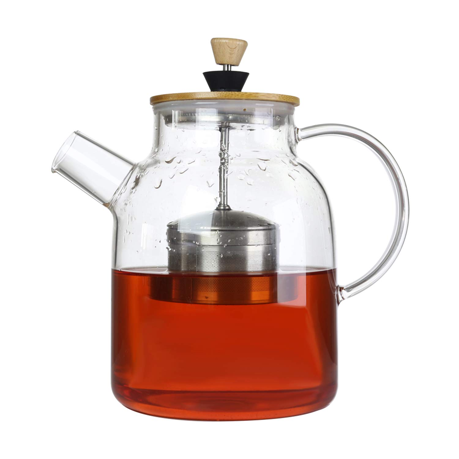 IDEALUX Tea Maker with SUS304 Tea Infuser & Bamboo Lid